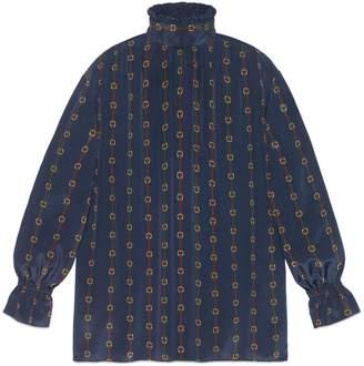 Gucci Oversize printed silk shirt