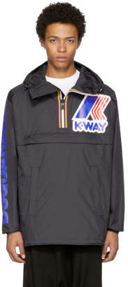 DSQUARED2 Reversible Black K-Way Edition Windbreaker Anorak