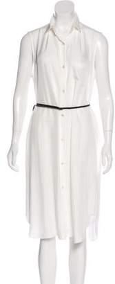 Tess Giberson Sleeveless Midi Shirtdress White Sleeveless Midi Shirtdress
