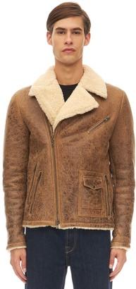 Salvatore Santoro Mena Leather Biker Jacket W/ Shearling