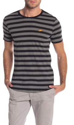 The Narrows Pizza Embroidered Stripe Crew Neck Tee