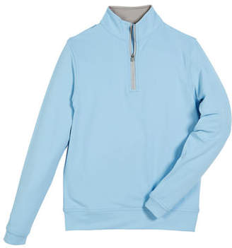 Peter Millar Stretch Terry Quarter Zip Popover, Youth