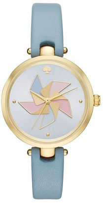 Women's Kate Spade New York Holland Pinwheel Leather Strap Watch, 34Mm $195 thestylecure.com
