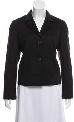 Akris Punto Wool and Angora-Blend Long Sleeve Jacket