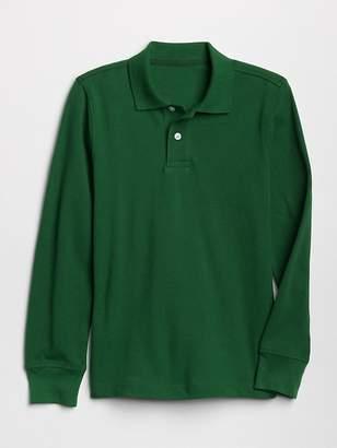 Gap Uniform Long Sleeve Polo Shirt
