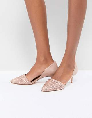 Coast Beaded Kitten Heel Shoes