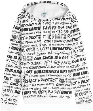 Kenzo Printed Cotton Hoodie