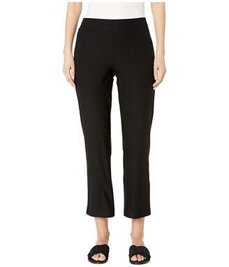 Eileen Fisher Washable Stretch Crepe Flare Ankle Pants