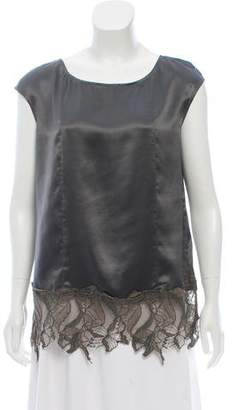 Schumacher Satin Lace-Accented Top