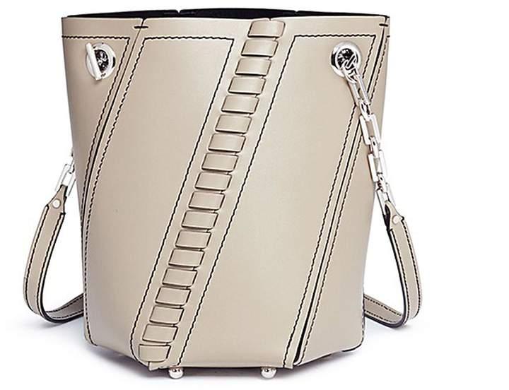 Proenza Schouler 'Hex' mini leather panel bucket bag