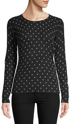 Lord & Taylor Petite Chelsea Dot Cashmere Sweater