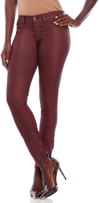 diesel Red Coated Livier Super Slim Jeggings $178 thestylecure.com
