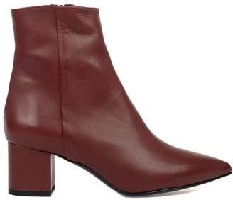 Fabio Rusconi Bordeaux Leather Natur Ankle Boot