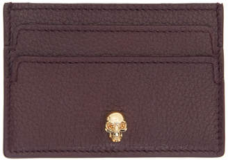 Alexander McQueen Burgundy Card Holder