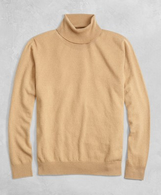 Brooks Brothers Golden Fleece 3-D Knit Cashmere Turtleneck