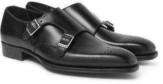 Kingsman + George Cleverley Mark Leather Monk-Strap Shoes