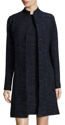 Eileen Fisher Crosshatch Open-Front Jacket $378 thestylecure.com