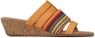 Donald J Pliner DARA, Mesh and Nubuck Leather Wedge Sandal
