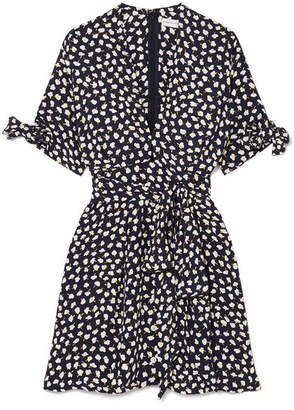 Faithfull The Brand Birgit Floral-print Voile Mini Dress - Navy
