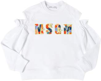 MSGM Logo Patch Cotton Sweatshirt