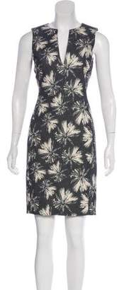 L'Agence Sleeveless Printed Dress