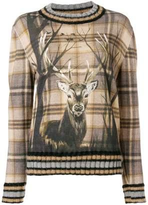 Alberta Ferretti deer print jumper