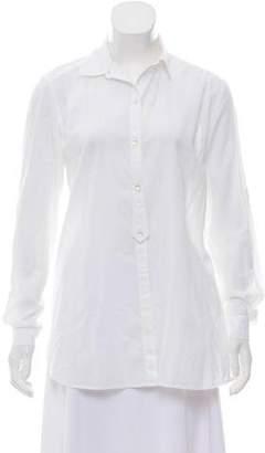 Calypso Long Sleeve Button-Up Top