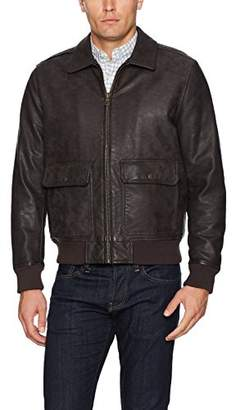 Tommy Hilfiger Men's Buffed Cow Faux Leather Sherpa Aviator Bomber Jacket