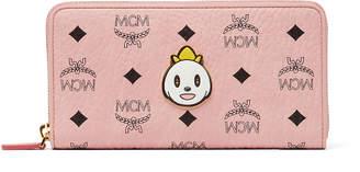 MCM X Eddie Kang Loveless Zip Around Wallet In Visetos