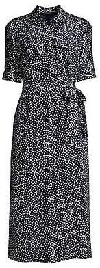 Lafayette 148 New York Women's Geometric Midi Shirtdress