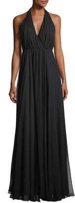 Milly Georgiana Silk Chiffon Long A-Line Gown