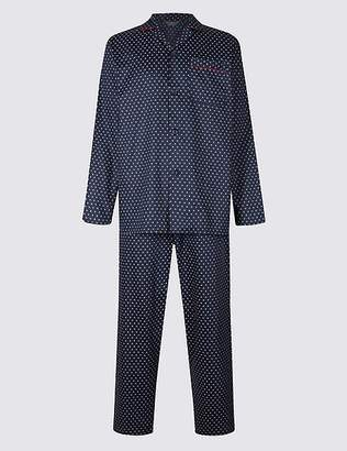 Marks and Spencer Pure Cotton Printed Pyjama Set