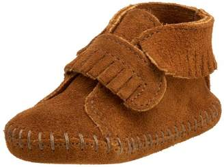 Minnetonka Velcro Front Strap Bootie, Unisex Baby Crawling Baby Shoes,6-9 month Baby UK (18 EU)