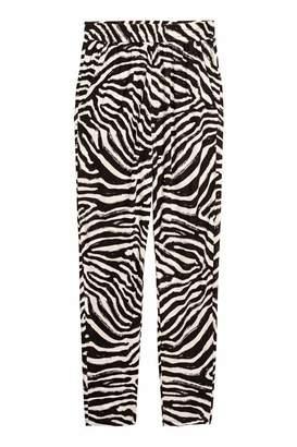 H&M Jersey Pants - Zebra print - Women