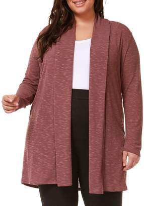 Dex Plus Shawl Open-Front Cardigan