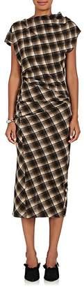 Etoile Isabel Marant Women's Pisa Plaid Ruched Wool-Blend Midi-Dress