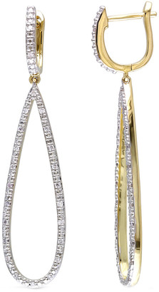 Diamond Select Cuts 14K 0.25 Ct. Tw. Diamond Teardrop Earrings