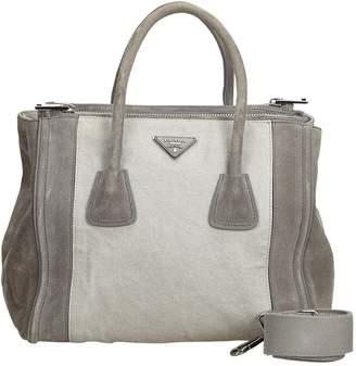 Prada Grey Suede Handbag