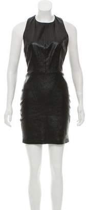 Alice + Olivia Layne Leather Dress