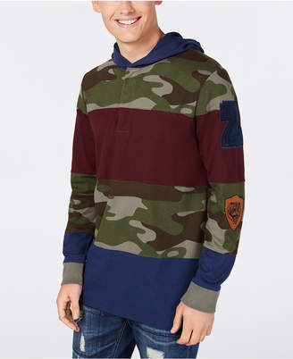 American Rag Men's Pattern-Blocked Hoodie