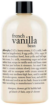 philosophy french vanilla bean shampoo shower gel and bubble bath