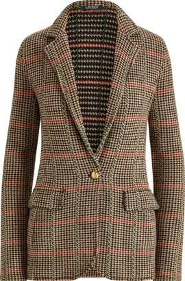 Ralph Lauren Plaid Wool-Blend Blazer