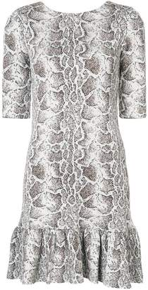 Chloé python print ruffled dress