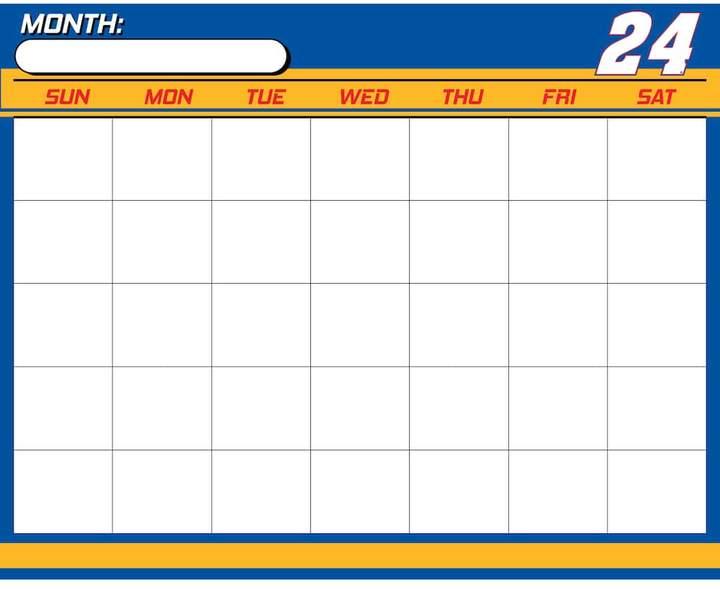 Kohl's Chase Elliot Dry-Erase Calendar