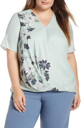 Vince Camuto Floral Vines Crossover Top