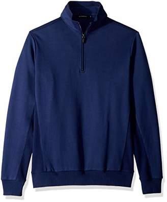 Bugatchi Men's Cotton Long Sleeve Half Zip Mock Neck Knits