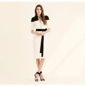 Amanda Wakeley Ecru Colour Block Shift Dress