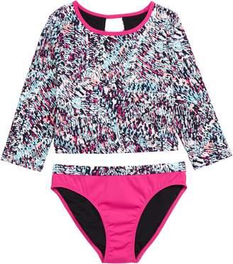 Zella Scoop Two-Piece Rashguard Swimsuit