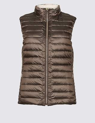 Marks and Spencer Reversible Quilted Gilet with Down & Feather