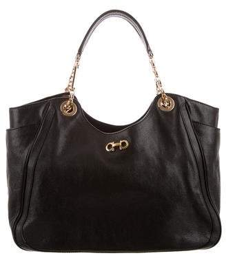 5683b9b557c7 Pre-Owned at TheRealReal · Salvatore Ferragamo Textured Leather Tote Bag